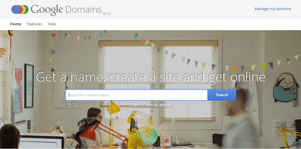 Sitio web de Google Domains